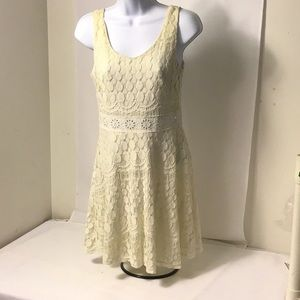 Windsor Crochet Lace Sheer Back Dress MD